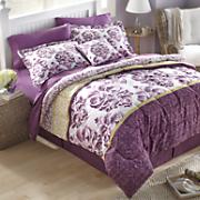 Woodblock Medallion Microfiber Comforter Set, Decorative Pillow and Window Treatments