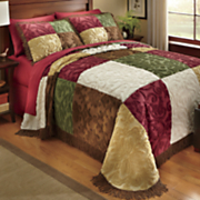 heritage patchwork chenille bedspread and sham