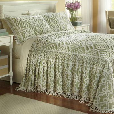 geneva chenille bedspread and sham - Chenille Bedspreads