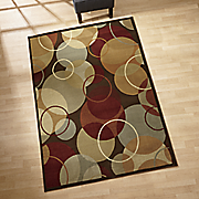 fancy circles rug