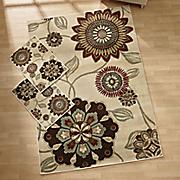 3 pc  medallion fleur rug set