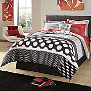 Dot Stripe Complete Bed Set and Matching Accessories