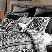 zebra chic euro sham pair