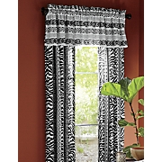 zebra chic window treatments