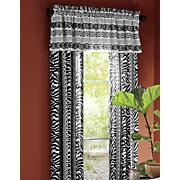 zebra chic window treatments