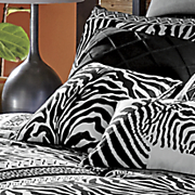 zebra chic print pillow