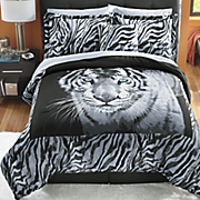 Bengal Tiger Comforter Set, Decorative Pillow and Window Treatments