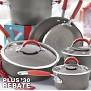 12-Piece Hard-Anodized Cucina Cookware Set by Rachael Ray