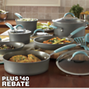 12 pc hard anodized cucina cookware set by rachel ray