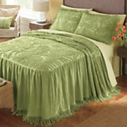 Bali Skirted Chenille Bedspread and Sham