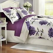 dahlia comforter set  decorative pillow and window treatments
