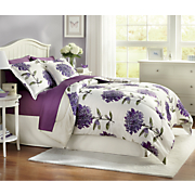 Dahlia Comforter Set, Decorative Pillow and Window Treatments