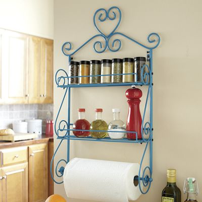 Scroll Heart Spice Rack/Paper Towel Holder