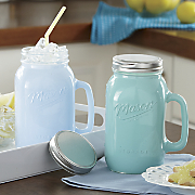 Oversized Mason Jar Mug and Lid