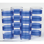 set of 4 striped glasses