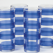 Set of 4 Striped Glasses