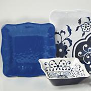 12 Piece Mosaic Melamine Dinnerware Set