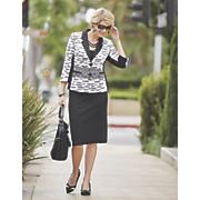 jayla print skirt suit