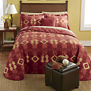 Carmel Bedspread/Sham Set, Decorative Pillow and Window Treatments
