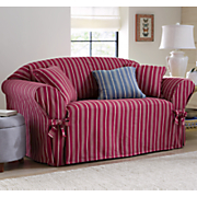Grainsack Stripe Slipcover and Decorative Pillow by Sure Fit