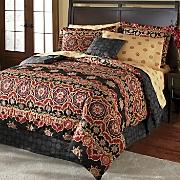 kashmir complete bed set  decorative pillow and window treatments