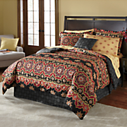 Kashmir Complete Bed Set, Decorative Pillow and Window Treatments