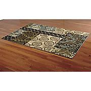 sapphire patchwork rug