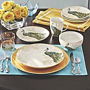 16-Piece Serene Peacock Dinnerware Set