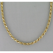 14k rope necklace