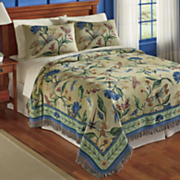 Dragonfly Woven Tapestry Coverlet and Sham