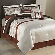Mila 10-Piece Embroidered Bed Set and Window Treatments