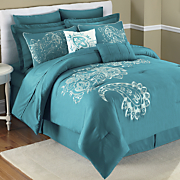 Rae Embroidered 12-Piece Bed Set and Window Treatments