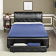 black storage bed 86