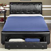 black storage bed 86