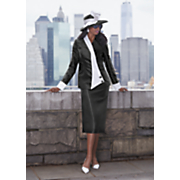leyla hat and delina skirt suit