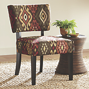 patterned ikat chair