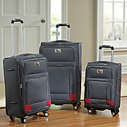 3 pc  soft case luggage set