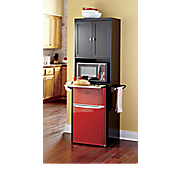 Kitchen Storage Unit For Mini Fridge and Microwave