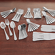 87 pc  pearl flatware set by international home
