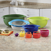 9 pc  compact food prep and storage set