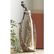 mosaic african woman figurine