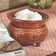 Red Rock Candle Warmer with Dish