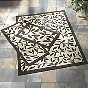 3 pc  bay breeze indoor outdoor rug set