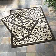 3 pc  bay breeze indoor outdoor rug set