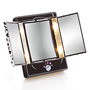 lighted cheetah print mirror by conair