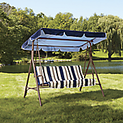 Striped 3-Seat Swing