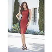textured inset dress 159