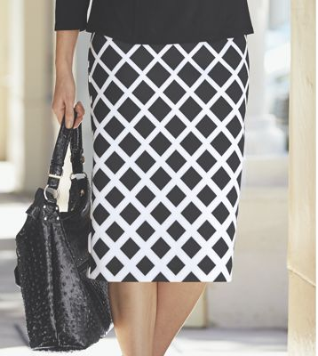 Geometric Scuba Skirt