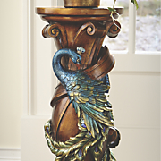 peacock pillar plant stand