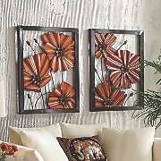 Set of 2 Abstract Floral Wall Art